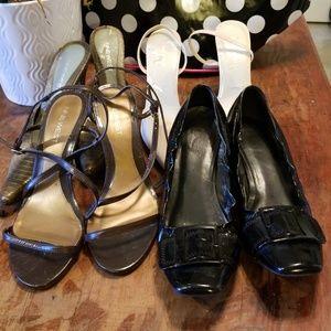 Bundle of Franco Sarto and Nine West heels
